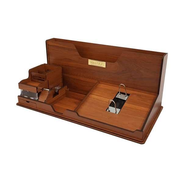 خرید 30 مدل ست لوازم اداری رومیزی چوبی و توری شیک + قیمت مناسب